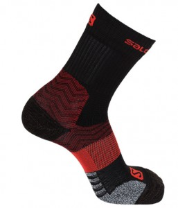 SKARPETY OUTDOOROWE SALOMON OUTPATH MID 402759 BLACK RED