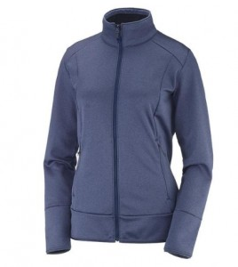 BLUZA DAMSKA SALOMON DISCOVERY FZ W 400817 CROWN BLUE HEATHER