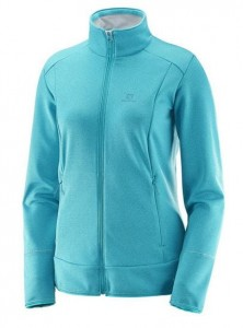 BLUZA DAMSKA SALOMON DISCOVERY FZ W 397686 BLUE HEATHER