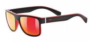 OKULARY LIFESTYLE UVEX LGL 21 BLACK RED