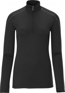 KOSZULKA DAMSKA SALOMON MD WT LONG SLEEVE ZIP NECK W 355646 BLACK