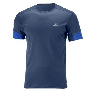 KOSZULKA MĘSKA SALOMON AGILE SS TEE W 402102 DRESS BLUE