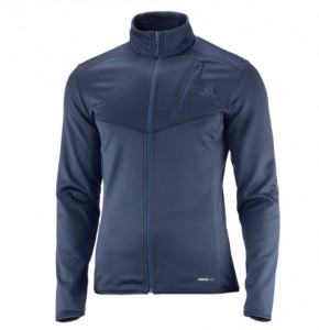 BLUZA MĘSKA SALOMON DISCOVERY FZ M 400939 SKY HEATHER