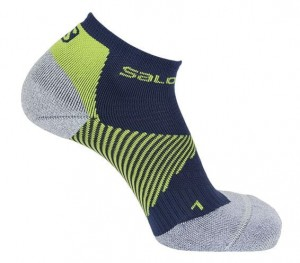SKARPETY SALOMON SPEED SUPPORT 398240 GREY LIME